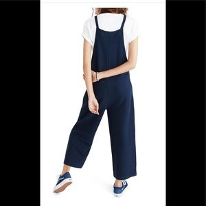 5c98bf855c6 Madewell Pants - Madewell tie strap deep blue knit Overalls M